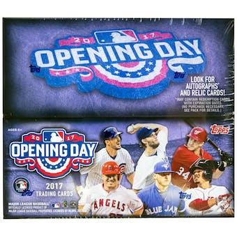 2017 Topps Opening Day Baseball Hobby Box