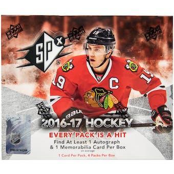 2016/17 Upper Deck SPx Hockey Hobby Box