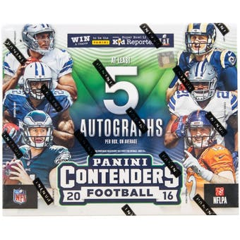 2016 Panini Contenders Football Hobby Box