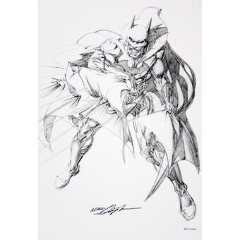 Neal Adams Autographed Batman Sketch Lithograph