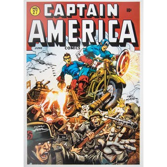 Neal Adams Autographed Captain America Lithograph