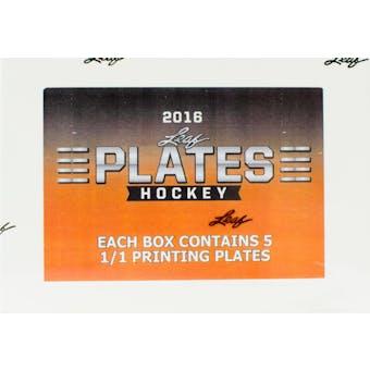 2016/17 Leaf Plates Hockey Hobby Box