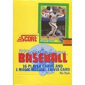 1990 Score Baseball Wax Box (Reed Buy)