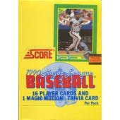 1990 Score Baseball Wax Box (Reed Buy)