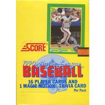 1990 Score Baseball Wax Box