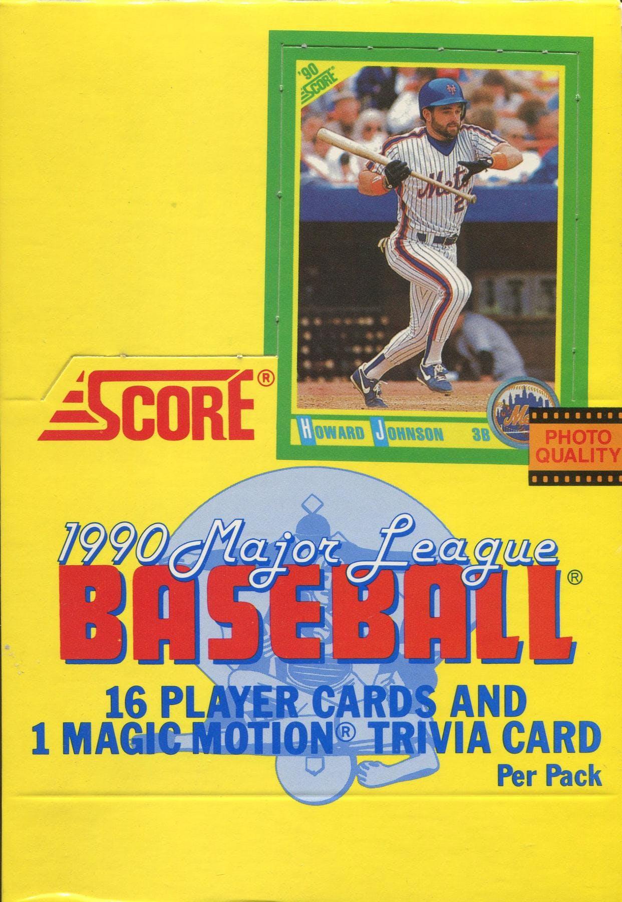 1990 Score Baseball Wax Box Da Card World