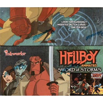 Hellboy Animated Swords of Storms Hobby Box (2006 Inkworks)