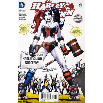 Neal Adams Autographed 11x17 Harley Quinn #25 Lithograph