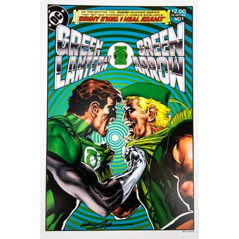 Neal Adams Autographed 11x17 Green Lantern Green Arrow #1 Lithograph