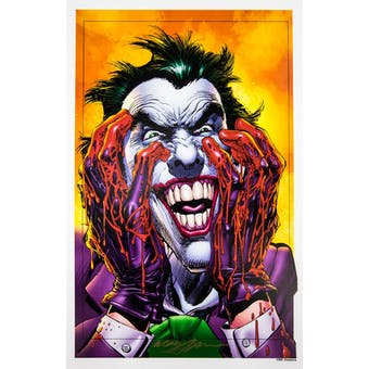 Neal Adams Autographed 11x17 Bloodied Joker Lithograph