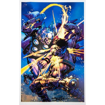 Neal Adams Autographed 11x17 Thor vs. Hercules Lithograph