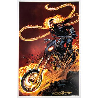 Neal Adams Autographed 11x17 Ghost Rider Lithograph