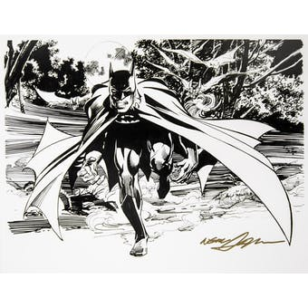 Neal Adams Autographed 11x14 Batman Black and White Lithograph