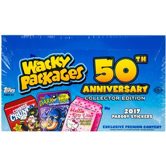 Wacky Packages 50th Anniversary Hobby Collector's Edition Box (Topps 2017)