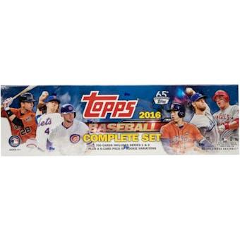2016 Topps Baseball Complete Set Box