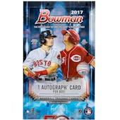 2017 Bowman Baseball Hobby Box
