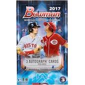 2017 Bowman Baseball Hobby Jumbo Box