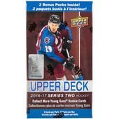 2016/17 Upper Deck Series 2 Hockey 12-Pack Blaster Box