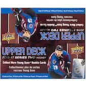 2016/17 Upper Deck Series 2 Hockey 24-Pack Box