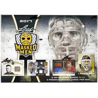 2016/17 Leaf Masked Men Hockey Hobby Box