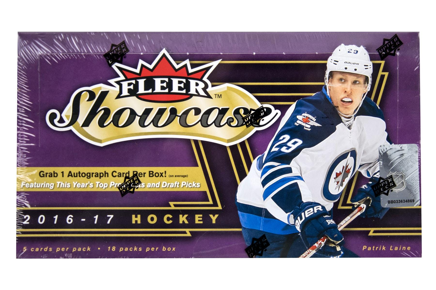 201617 Upper Deck Fleer Showcase Hockey Hobby Box