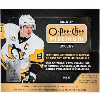 2016/17 Upper Deck O-Pee-Chee Platinum Hockey Hobby Box