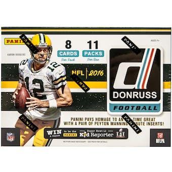 2016 Donruss Football 11-Pack Blaster Box
