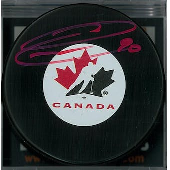 Ryan O'Reilly Autographed Team Canada Hockey Puck