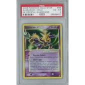Pokemon EX Crystal Guardians Alakazam Gold Star 99/100 Holo Rare PSA 4