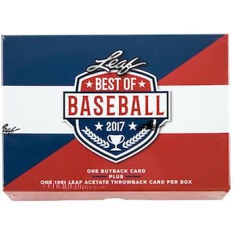 2017 Leaf Best Of Baseball Hobby Box
