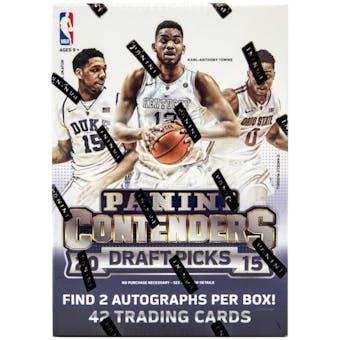 2015/16 Panini Contenders Draft Picks Basketball 7-Pack Box