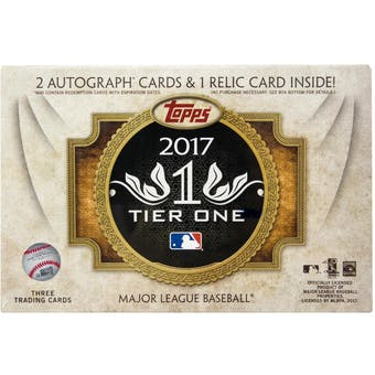 2017 Topps Tier One Baseball Hobby Box