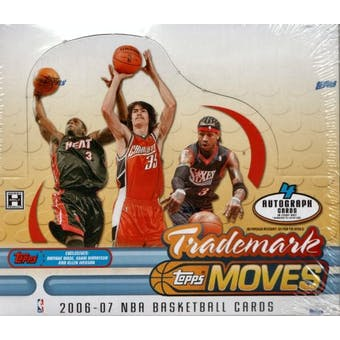 2006/07 Topps Trademark Moves Basketball Hobby Box