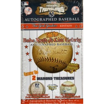 2006 TriStar Hidden Treasures New York Yankees Autographed Baseball Box