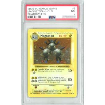 Pokemon Base Set Shadowless Magneton 9/102 PSA 7