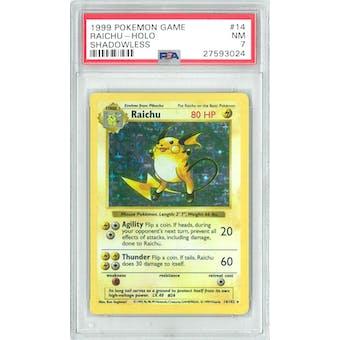 Pokemon Base Set Shadowless Raichu 14/102 PSA 7