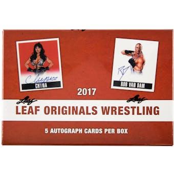 2017 Leaf Originals Wrestling Hobby Box