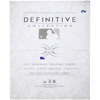 2017 Topps Definitive Collection Baseball Hobby Box