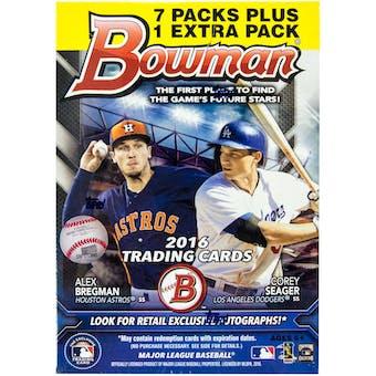 2016 Bowman Baseball 8-Pack Blaster Box