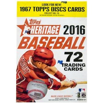 2016 Topps Heritage Baseball 8-Pack Box