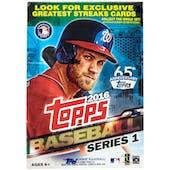 2016 Topps Series 1 Baseball 10-Pack Blaster Box