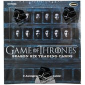 Game Of Thrones Season Six Trading Cards Box (Rittenhouse 2017)