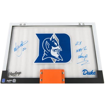 Christian Laettner Autographed Duke Backboard National Champ inscription