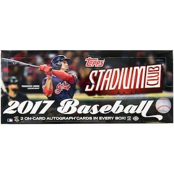 2017 Topps Stadium Club Baseball Hobby Box