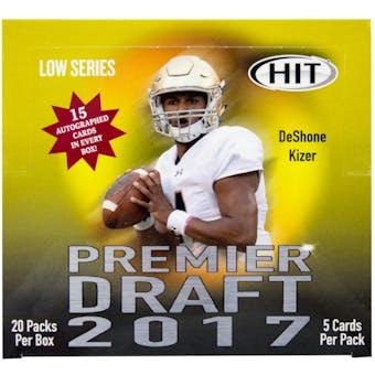 2017 Sage Hit Premier Draft Low Series Football Hobby Box
