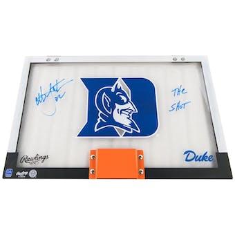 Christian Laettner Autographed Duke Backboard Shot inscription