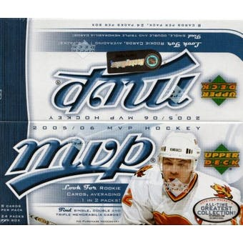 2005/06 Upper Deck MVP Hockey 24 Pack Box