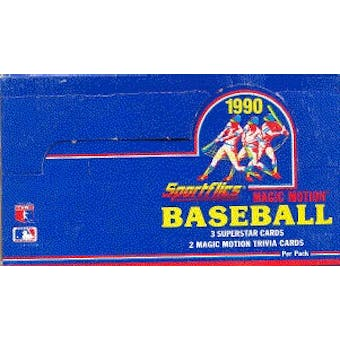 1990 Sportflics Baseball Wax Box