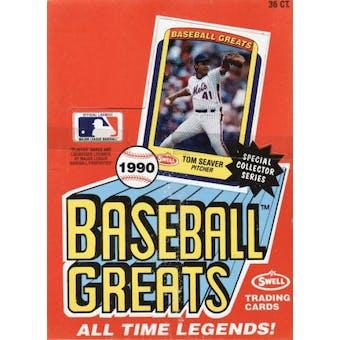 1990 Swell Baseball Greats Baseball Wax Box