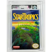 Nintendo (NES) Star Tropics VGA Graded 80 NM White Seal